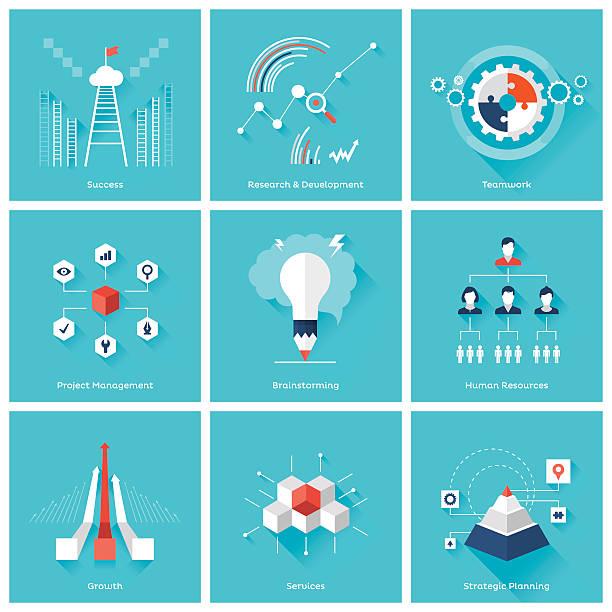ビジネスの設計要素 - 研究のインフォグラフィック点のイラスト素材/クリップアート素材/マンガ素材/アイコン素材