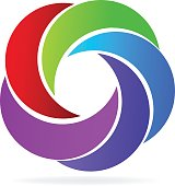 Swooshes icon vector image design logo