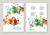 Business related design on the paper for brochure or leaflet design.