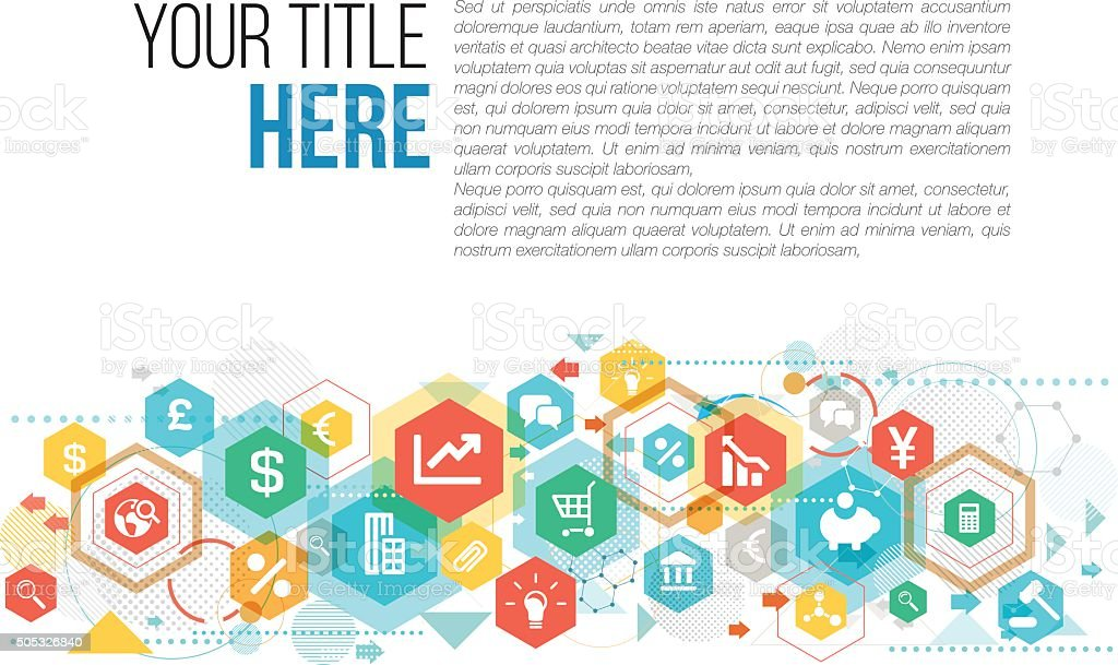 Business design with copy space vector art illustration
