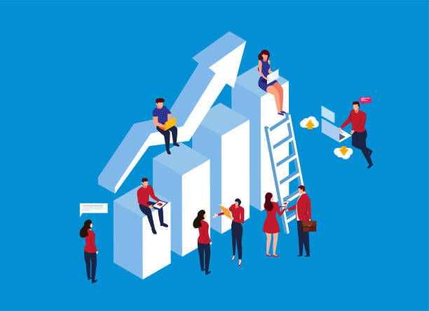 business development concept - stopnie do sukcesu stock illustrations