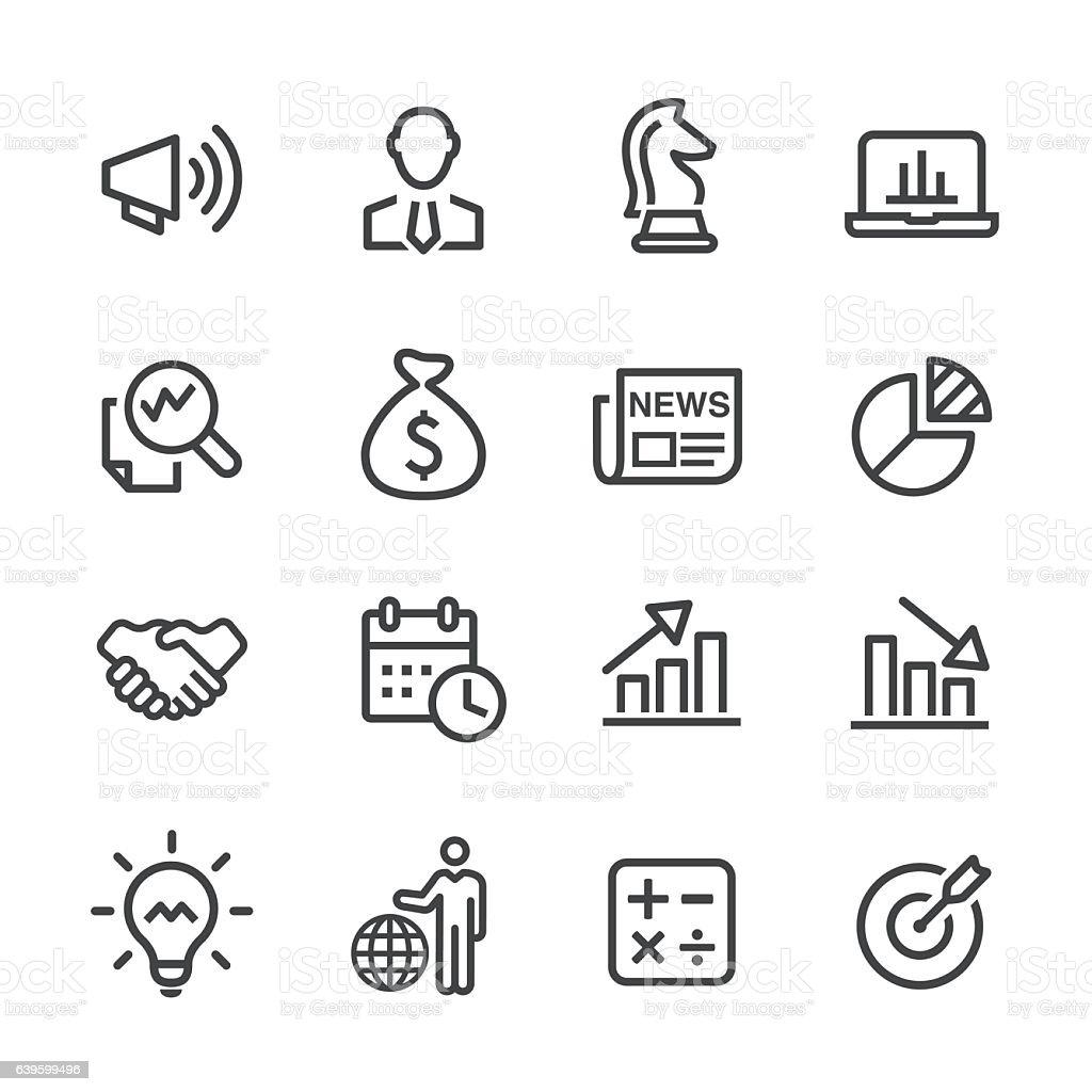Business Development Icon : Business development icons line series stock vector art