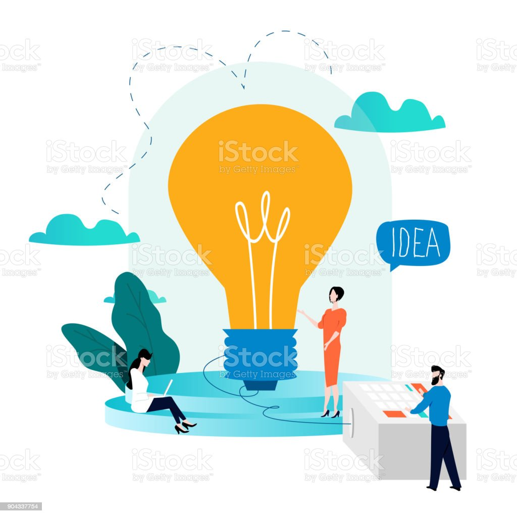 Business development, project and research, testing design vector art illustration