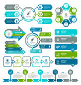Vector illustration business diagrams and infographic elements