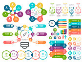 Vector illustration of the business infographic elements  and timeline element.