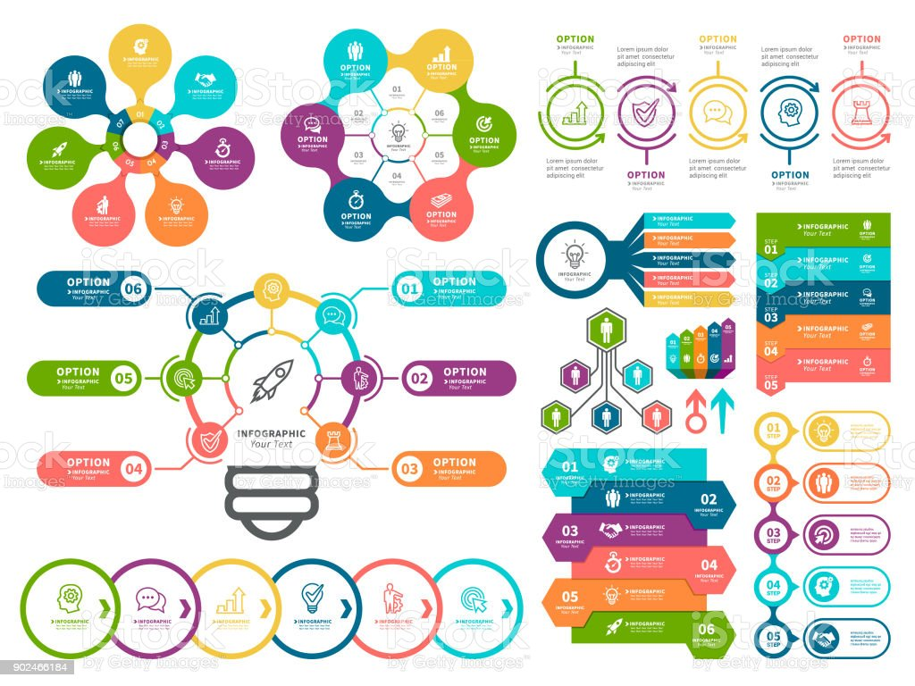 Business diagrams and Infographic Elements. vector art illustration