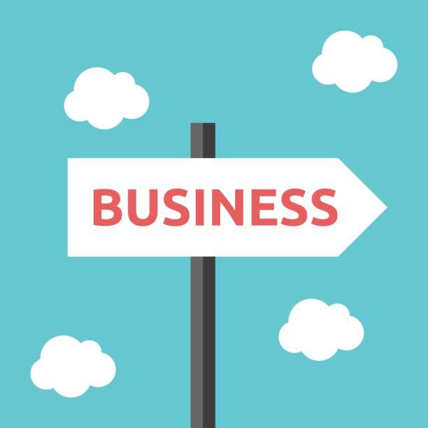 Geschäft Richtung Straßenschild – Vektorgrafik