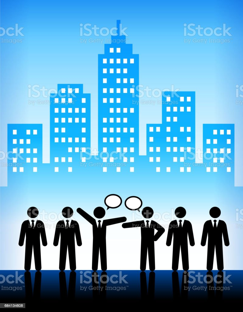 Business Discussion Modern City Background business discussion modern city background - stockowe grafiki wektorowe i więcej obrazów architektura royalty-free