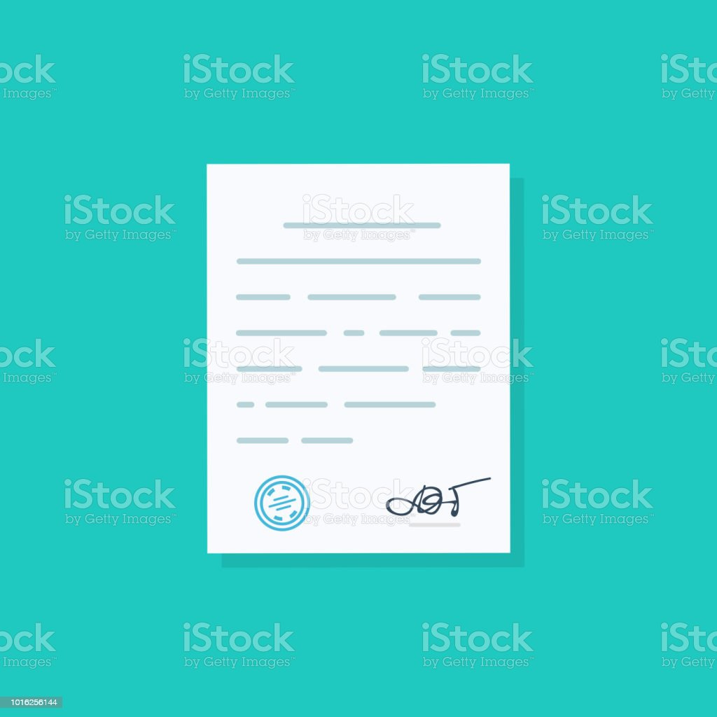 business document agreements document with signature and approval