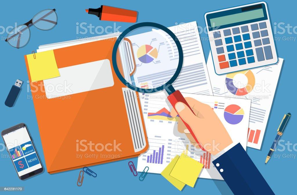 Business document concept vector art illustration