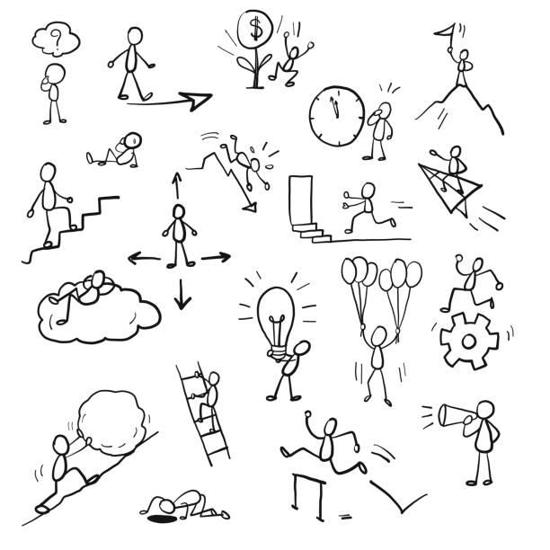 Dibujo Con Palitos Vectores Libres De Derechos Istock