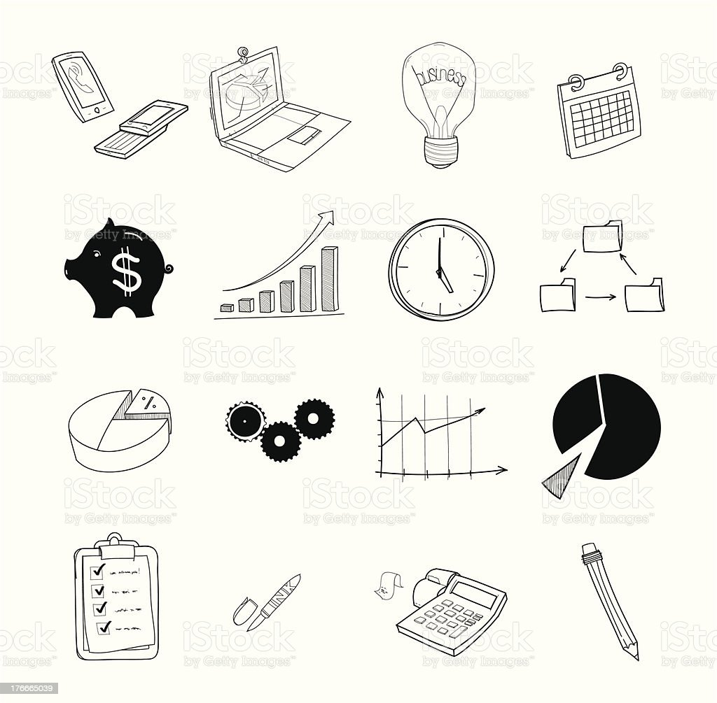Business doodle royalty-free stock vector art