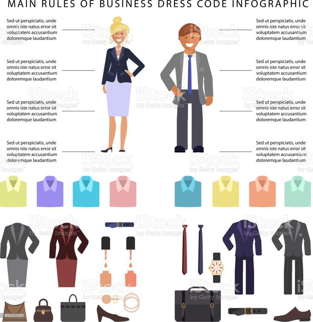 Business-Dresscode-Infografiken – Vektorgrafik