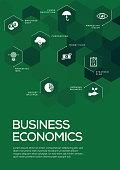 Business Economics. Brochure Template Layout, Cover Design
