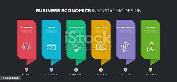 Business Economics Infographic Design