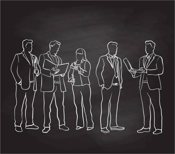 Business Edge Chalkboard – Vektorgrafik