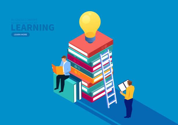 ilustraciones, imágenes clip art, dibujos animados e iconos de stock de educación empresarial y creatividad - regreso a clases