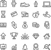 Business element icons.