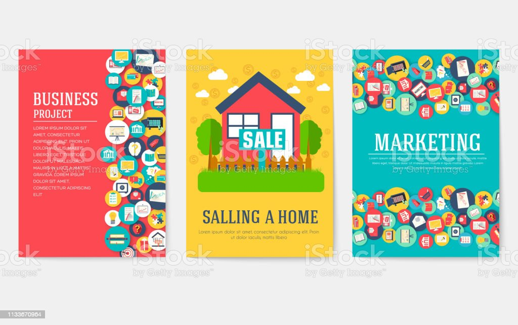 Marketing Template Of Flyer, Magazines, Book Cover, Banners, Booklet. Idea  Infographic Concept Background. Layout Illustrations Modern Pages With  Typography ...