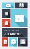 Business elements mobile UI applications graphic user interface flat icons set. EPS10 vector file organized in layers foreasy editing.