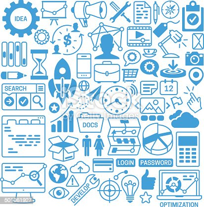 Business elements and graphic symbols.