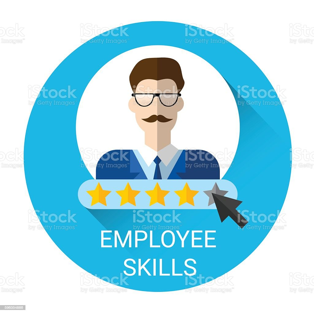 Business Employee Skills Evaluation Icon royalty-free business employee skills evaluation icon stock vector art & more images of adult