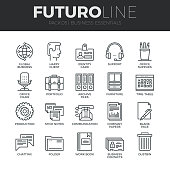 Business Essentials Futuro Line Icons Set