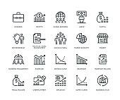 Business Essentials Icon Set - Line Series