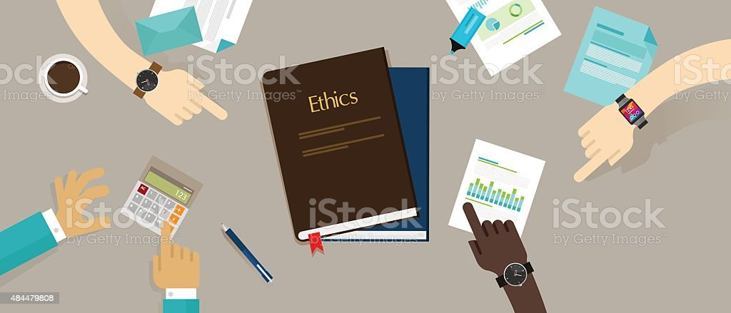 business ethic ethical company corporate concept vector art illustration