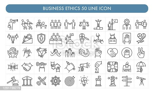 Business Ethics 50 Line Icon