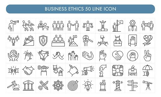 Business Ethics 50 Line Icon