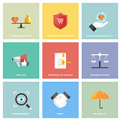 Business Ethics Icon Set