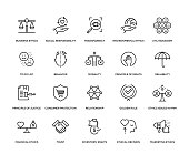 Business Ethics Icon Set - Thin Line Series