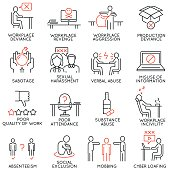 Business ethics, organizational behavior in the workplace icons - part1