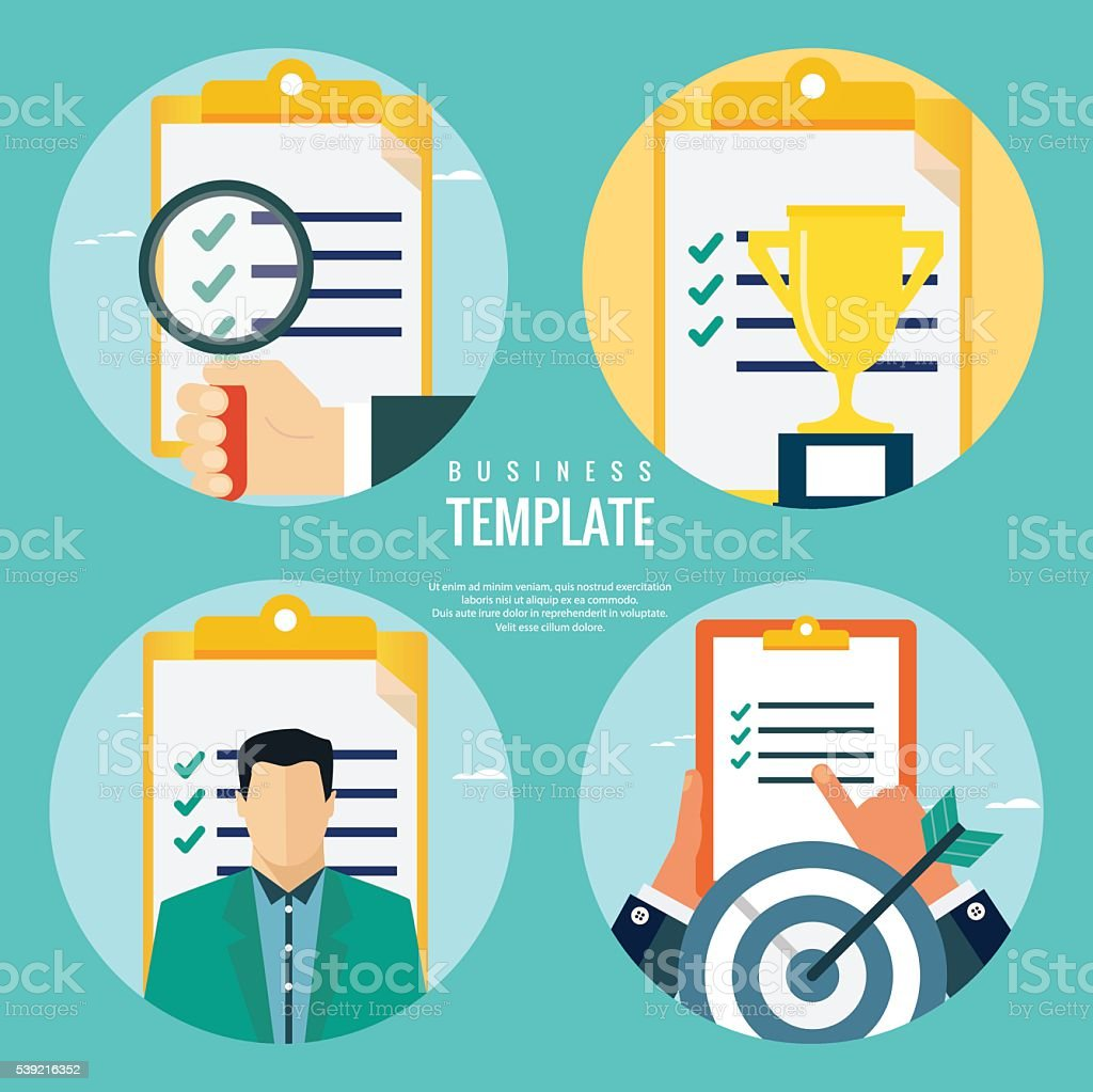 Business evaluation concepts vector art illustration