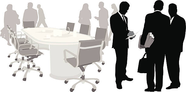 Business Event Vector Silhouette vector art illustration