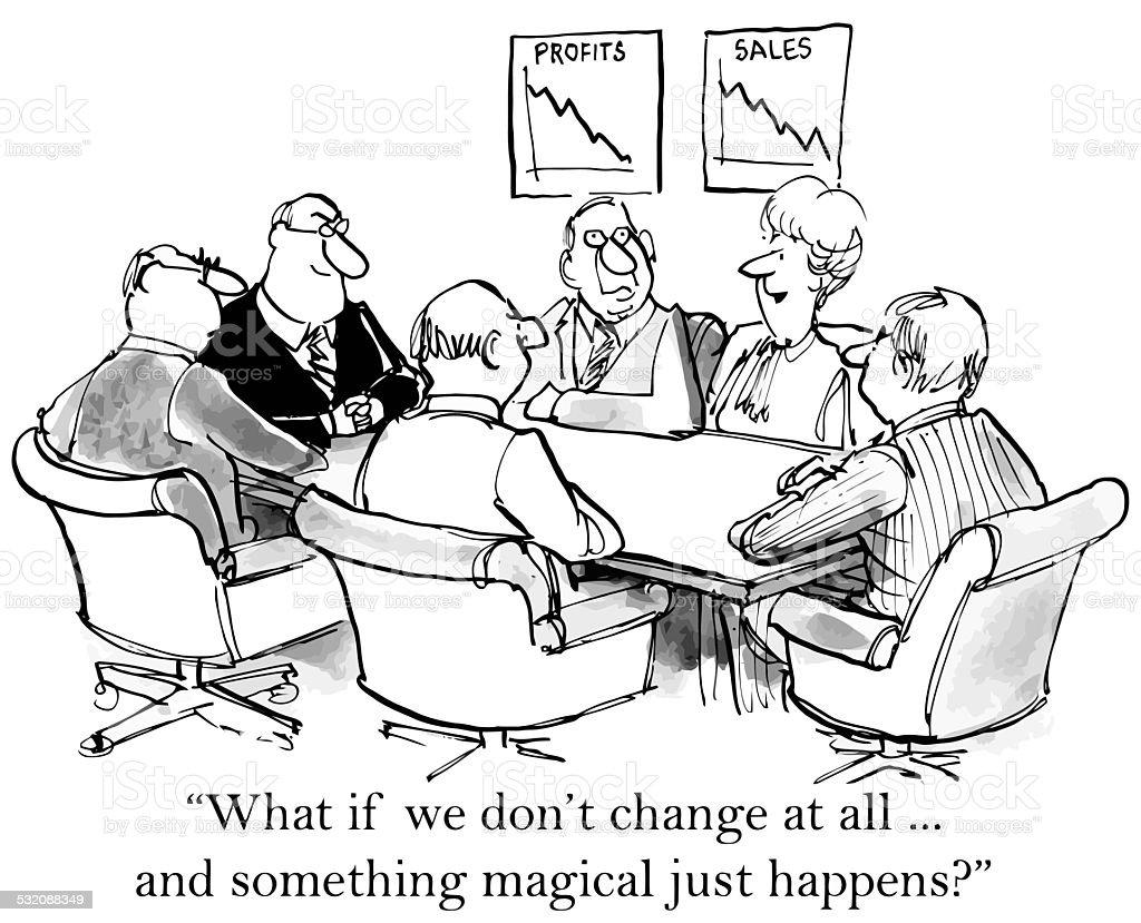 Business Executives Resist Change vector art illustration