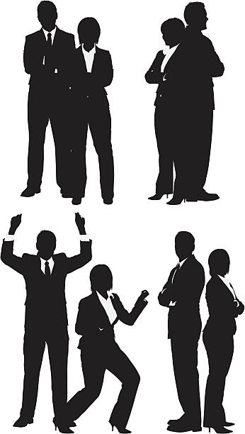 stockillustraties, clipart, cartoons en iconen met business executives - overhemd en stropdas