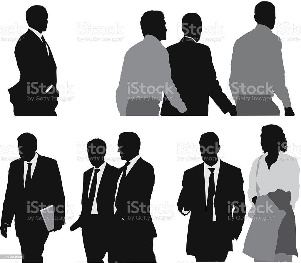 Business executives vector art illustration