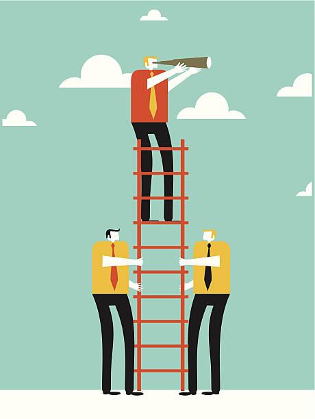 Business exploration vector art illustration