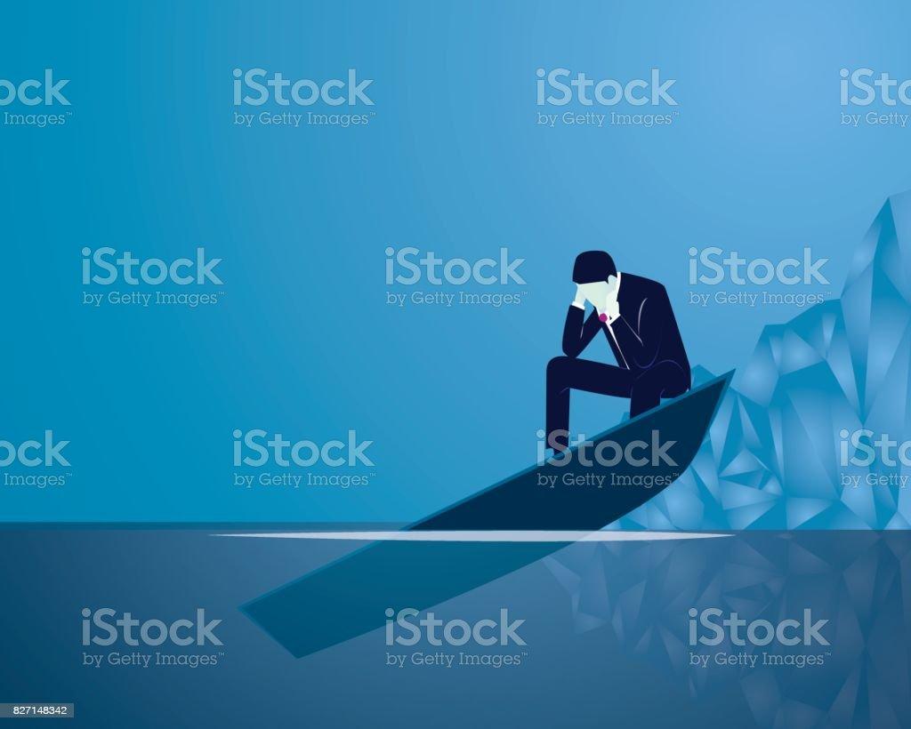 ビジネス障害ビジネスマンの概念 ベクターアートイラスト