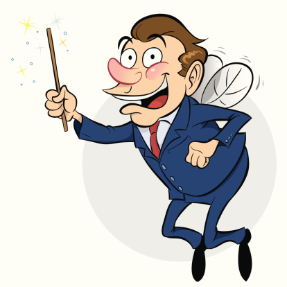 Business Fairy Stock Illustration - Download Image Now