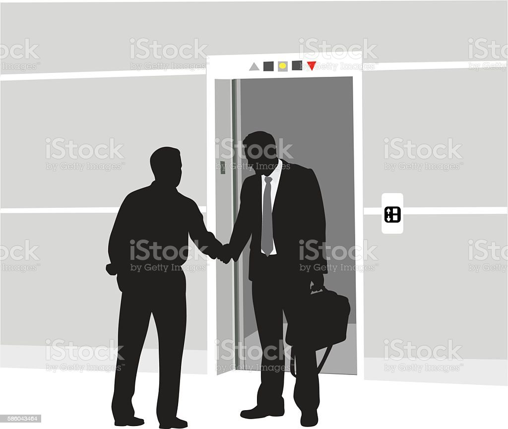Business Farewell vector art illustration