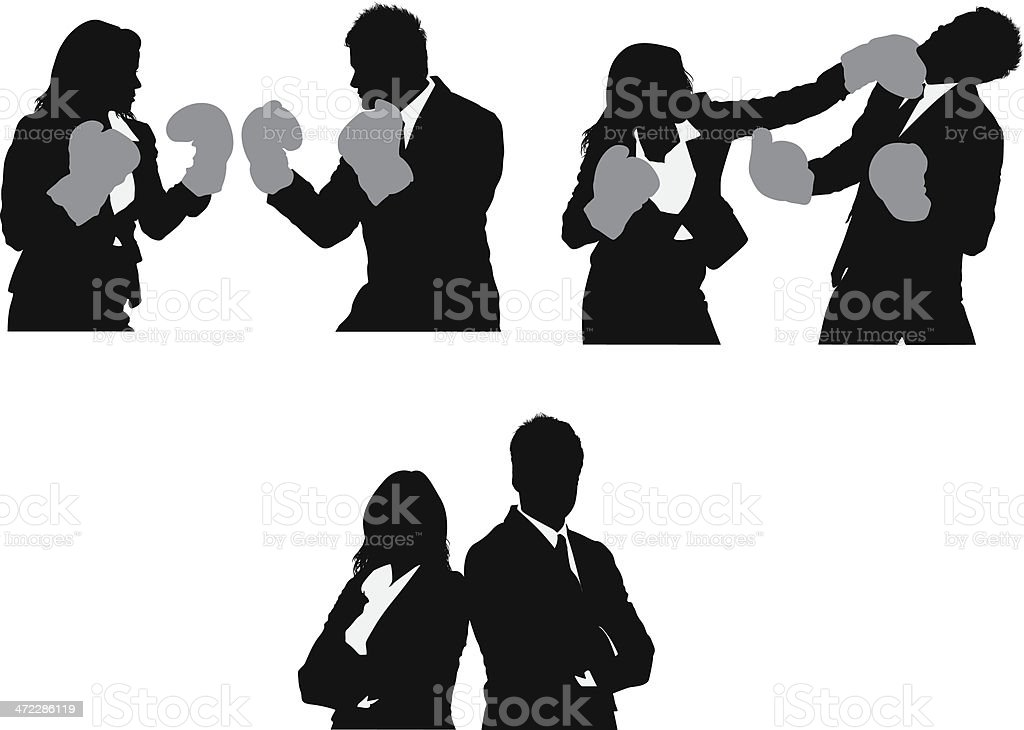 Business fight royalty-free stock vector art