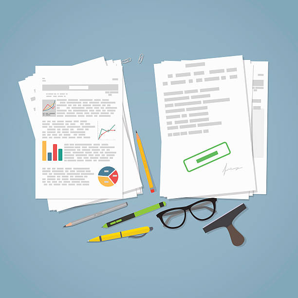 Business file report vector art illustration