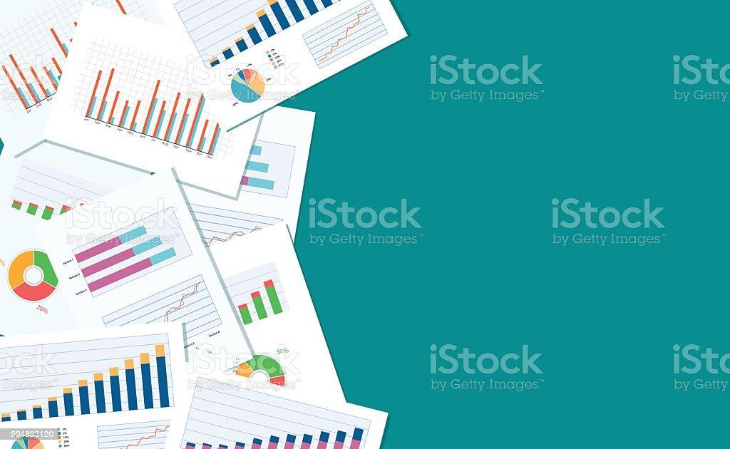 business finance et des investissements bannière et appareil mobile pour business.report papier - Illustration vectorielle