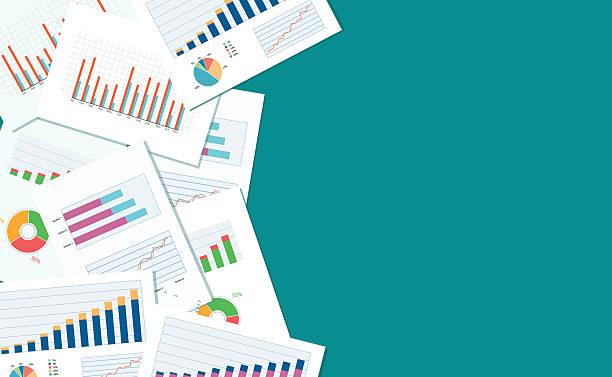 business Finanzen und Investitionen banner und mobilen Gerät für business.report Papier – Vektorgrafik