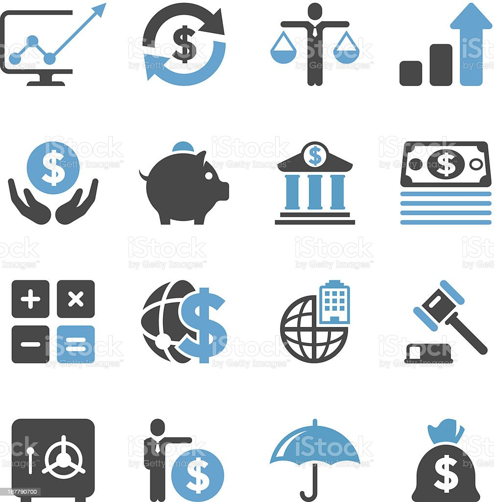 Business & Finance Icon Set | Concise Series royalty-free stock vector art