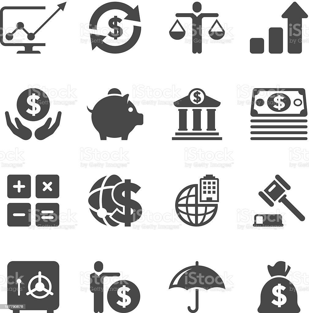 Finance Icon Set: Business Finance Icon Set Unique Series Stock Vector Art