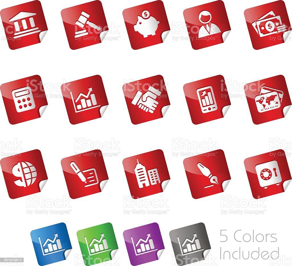 Business & Finance Icons // Stickers Series business finance icons stickers series – cliparts vectoriels et plus d'images de accord - concepts libre de droits